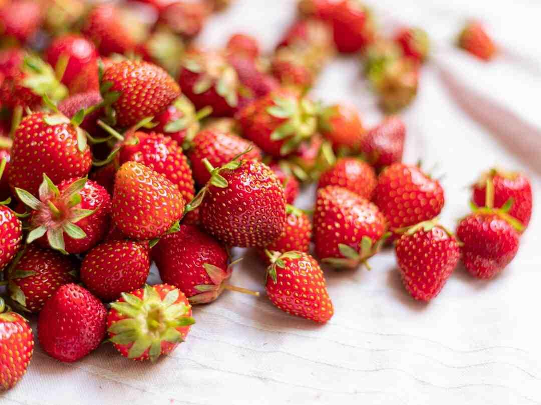 Comment congeler des fraises